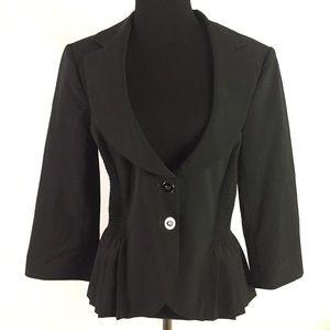 WHBM Womens Blazer Jacket Black size 8